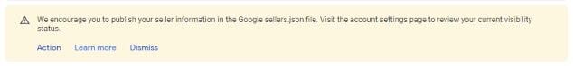 Publish your seller information in the Google sellers.json file