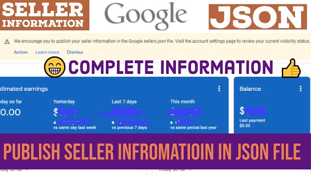Publish your seller information in the Google sellers.json file | Sellers.json file error fix