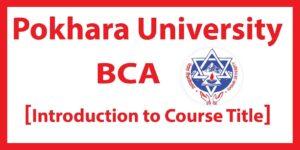 Pokhara University BCA Course Introduction