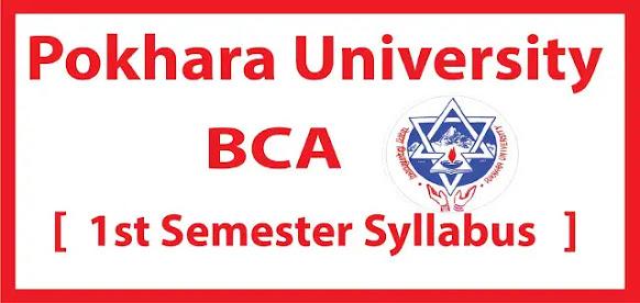BCA first semster syllabus pokhara university