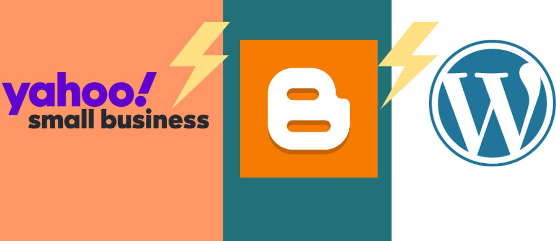 Yahoo small business vs wordpress vs blogger