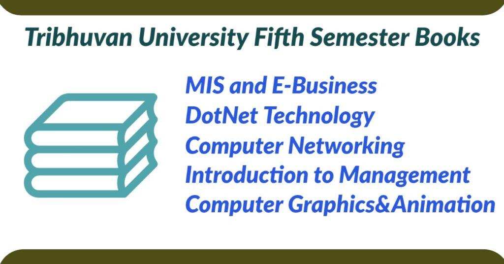 Fifth semester books for BCA