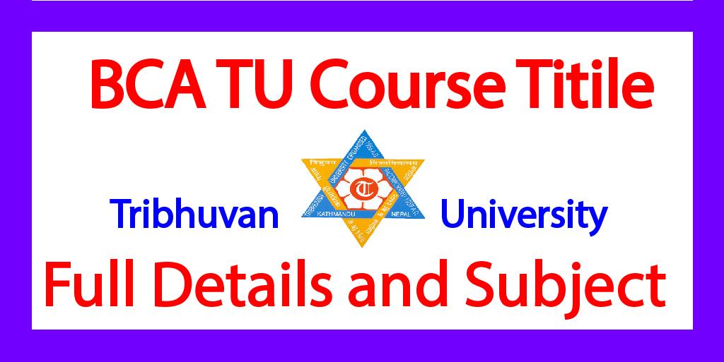 Tribhuvan University BCA Course